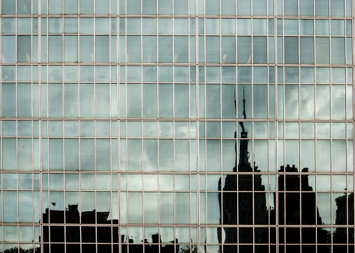 Reflections of the Empire State Building