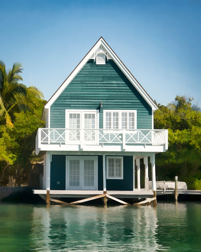 teal boat house