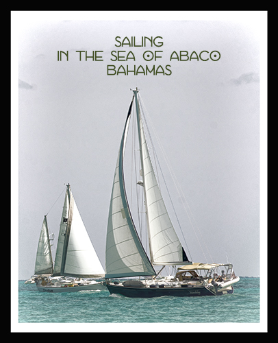 sailing sea of abaco postcard