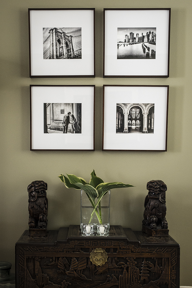 my images framed on wall