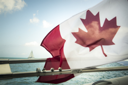 cdn flag sailing