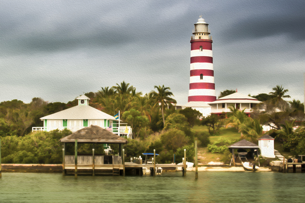 hopetown lighthouse dgital painting
