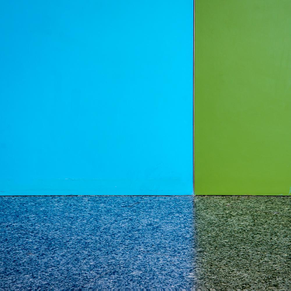 blue green grid